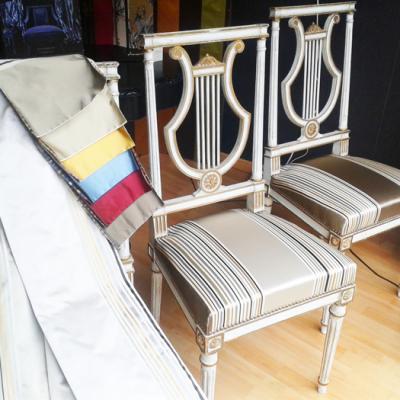Chaises Louis XV - modèle gris et blanc