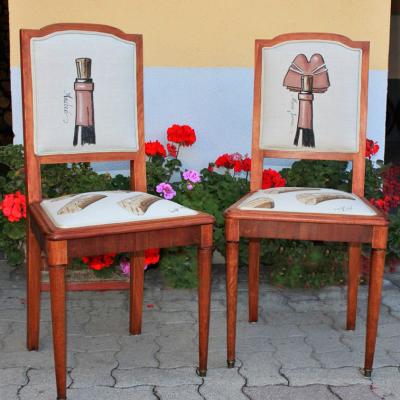 Chaises à personnalisation vinicole - en collaboration avec Laurent Bessot